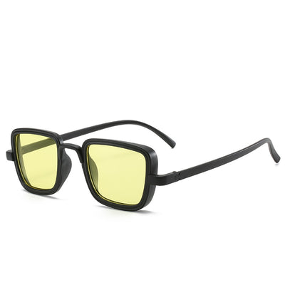 Classic Square Retro Vintage Unisex Fashion Sunglasses - Yellow