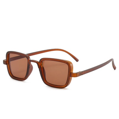 Classic Square Retro Vintage Unisex Fashion Sunglasses - Brown