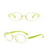 HK1003 - Kids Oval Slim Round Blue Light Blocker Fashion Glasses