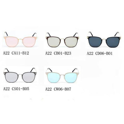 A22 Pillowed Rectangle Flat Lens Horned Rim Sunglasses - Iris Fashion Inc. | Wholesale Sunglasses and Glasses