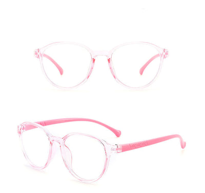 HK1002 - Kids Round Circle Fashion Blue Light Blocker Glasses