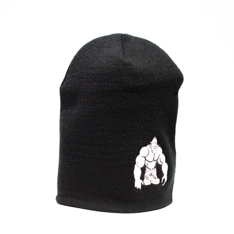 SWOLE MONKEY WHITE LOGO BEANIE