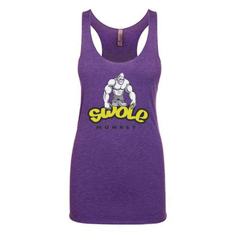WOMEN'S SWOLE MONKEY RAZORBACK