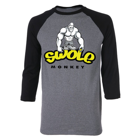 SWOLE MONKEY 3/4 SLEEVE RAGLAN