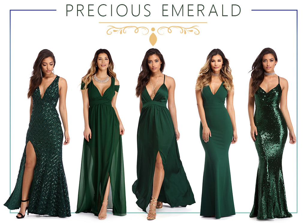 Pick The Perfect Green Prom Dresses For Your 2018 Party