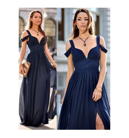 1f14d91e379 Blue ruffle dress- This gorgeous dress does not only make you look elegant  because of the royal blue color but also makes you look bold because of the  ...