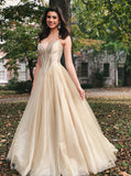 Elegant Long Sweetheart Light Champagne Prom Evening Dress