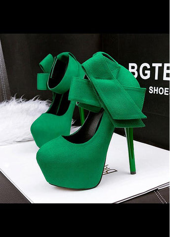 Fashionable Suede Stiletto Heels Party Shoes