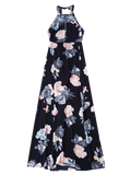 Stunning Self Tie Front Slit Floral Maxi Dress