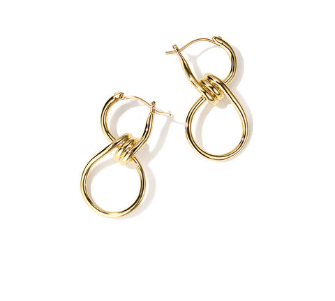 Simple Geometric All-match Short Earrings