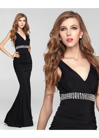 Black Knitting Mermaid Formal Dress