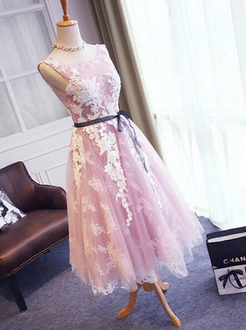 High Fashion A-Line Scoop Backless Short Homecoming Dress With Appliques