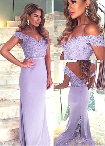 Chic Fabulous Lavender Sheath Formal Dresses