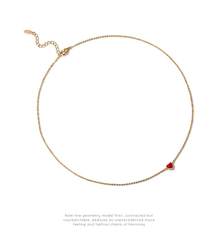 Red Little Heart Sharped Necklace