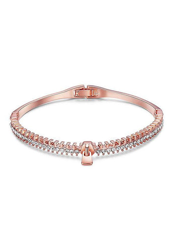 Rose Gold 18K Gold Plated Cuff Bangle