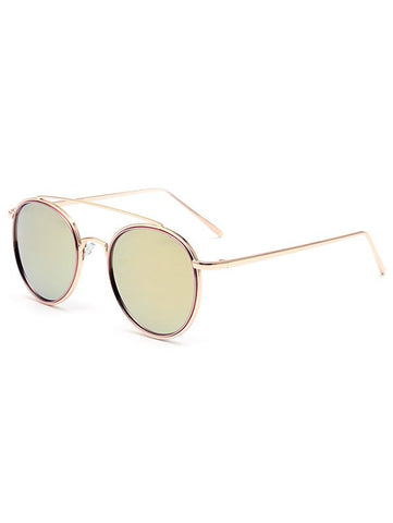Crossbar Pink Mirrored Sunglasses