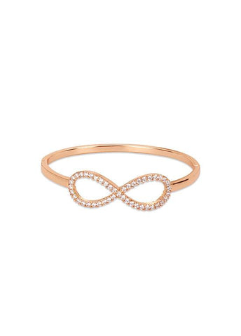 Rose Golden CZ Infinity Bracelet