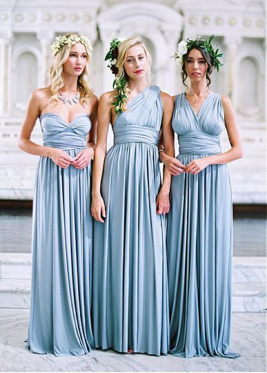 35f439e8624 Pretty Spandex Sweetheart Neckline Full Length A-line Convertible  Bridesmaid Dress – Sassymyprom