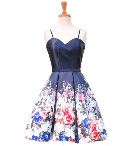 Floral Party Short Homecoming Dresses