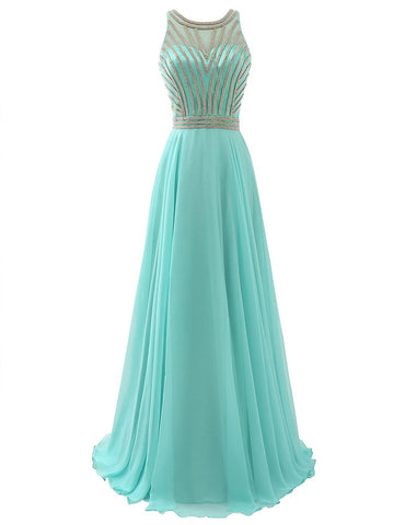 Chiffon Juniors Halter Prom Party Ball Gowns