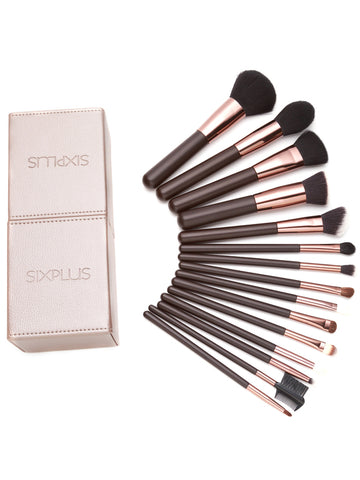 High Quality Coffee Professional Makeup Brush Set With Box