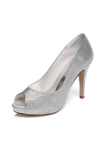 Bridal Shoes With Shimmering Powder