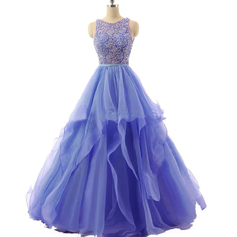 Beaded Quinceanera Ball Gown Prom Dress Long for Evening Party