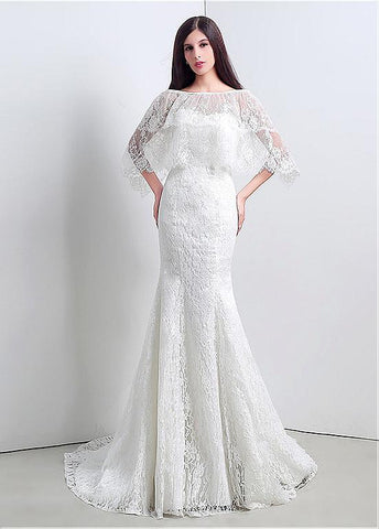 Glamorous Lace Sweetheart Neckline Mermaid Wedding Dresses With Jacket