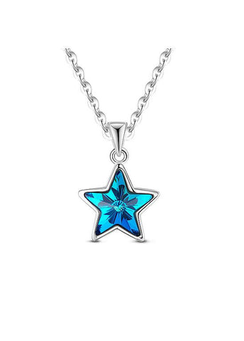 Cheap Blue Lucky Star Necklace