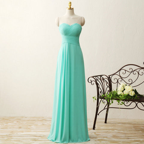 A-line Princess Sweetheart Open-back Prom Dress