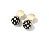 Chic Polka Dot Vintage Earrings