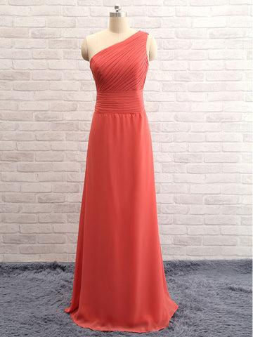 Asymmetric Open-back Sleeveless Simple Bridesmaid Dresses