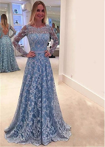 Glamorous Lace  Prom Dresses With Belt & Bowknot