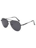 Black Metal Crossbar Pilot Sunglasses