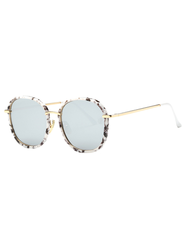Fashion Marble Oversized Mirrored Sunglasses
