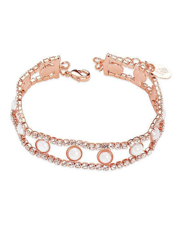 Rhinestone Rose Gold Plated Bracelet