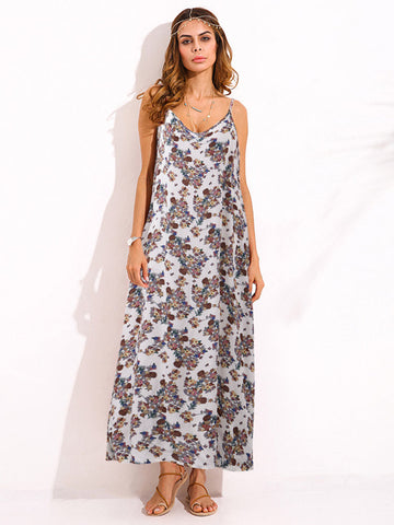 Beautiful Loose Floral Printed Maxi Dresses