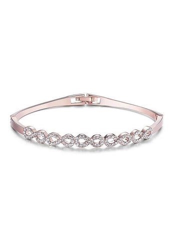 Chic Rose Gold Plated Alloy Bangle