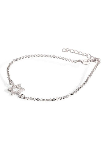 Bracelet with Hexagram Findings