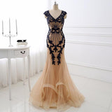 Beading Appliques Luxury Evening Dress