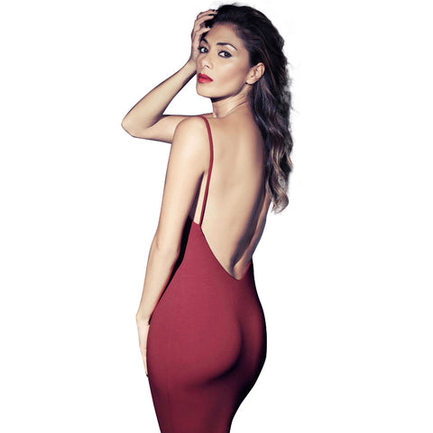 Backless Bodycon Sexy Causal Dress
