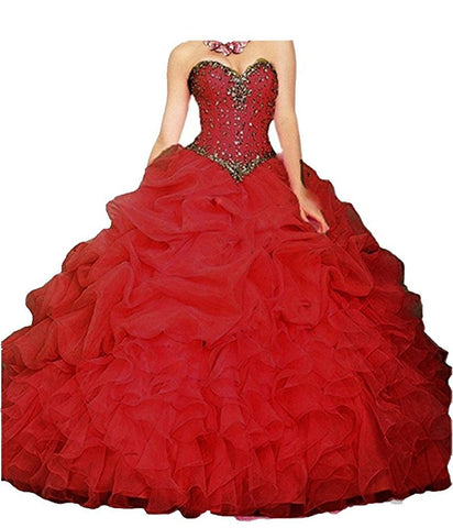 Ball Gown Organza Quinceanera Dresses Prom Gowns