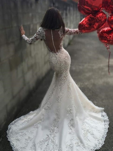 Mermaid Bridal Gown With Court Train