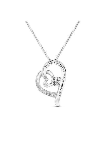 Silver Heart to Heart Necklace