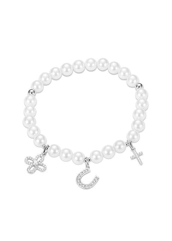 Cheap Cross U Pearl Bracelet