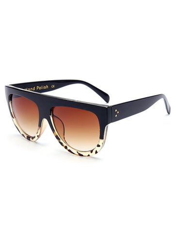 Cool Leopard Pattern Match Black Sunglasses