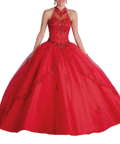 Red Sweet 16 Quinceanera Dress