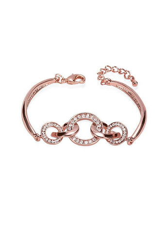 Interlocking Rings Chic 18K Gold Plated Bracelet