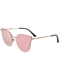 Pink Street Fashion Golden-Rim Cat Eye Sunglasses