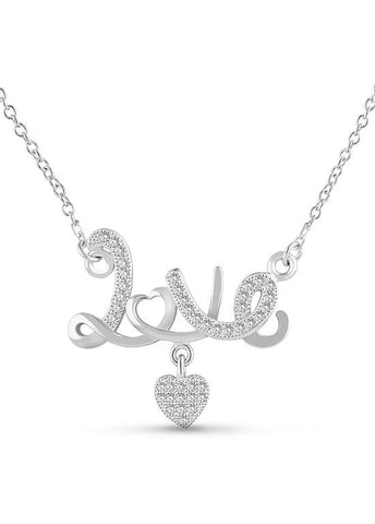 "Silver ""LOVE"" Pendant Necklace"